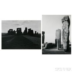 Paul Caponigro (American, b. 1932)      Two Photographs of Stonehenge