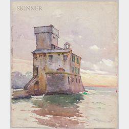 Mabel May Woodward (American, 1877-1945)      Castello sul Mare, Rapallo, Italy