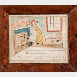Godfrey Miller (American, Early 19th Century)      The Heroine of Virginia