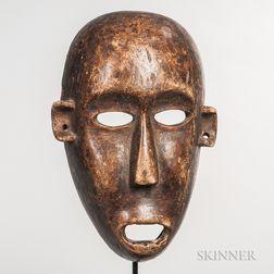 Makonde-style Carved Wood Mask
