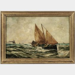 Bernard Benedict Hemy (British, 1845-1913)      Rough Seas