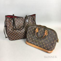 Two Louis Vuitton Leather Handbags
