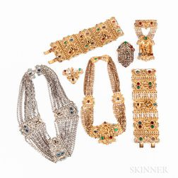 Seven Pieces of Athennic Arts Costume Jewelry