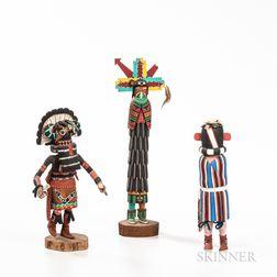 Three Contemporary Hopi Katsinas