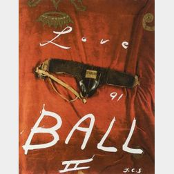 Julian Schnabel (American, b. 1951)  Love Ball II