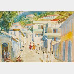 Jean Jacques Haffner (American, 1885-1961)      Caribbean Village, St. Thomas