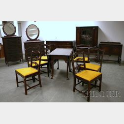 Twelve Pieces of Assorted Reproduction Furniture