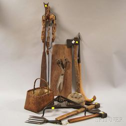 Group of Miscellaneous Metal and Wood Articles