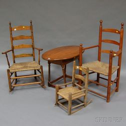 Four Pieces of Early Country Furniture