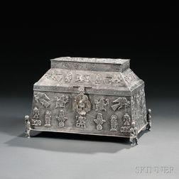 Peruvian Sterling Silver Casket