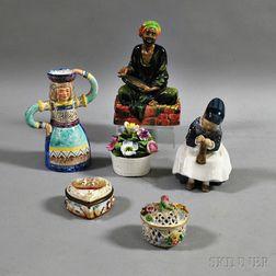 Six Decorative Ceramic Items