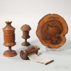Group of Holy Land Olivewood Souvenirs