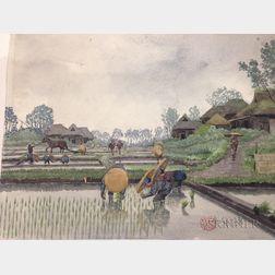 Set of Five Watercolors