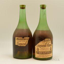 J. Wray & Nephew Finest Old Jamaican Liqueur Rum 20 Years Old, 2 4/5 quart bottles