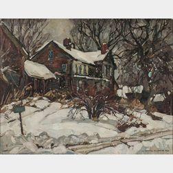William Lester Stevens (American, 1888-1969)      House in Snow