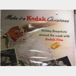 Three Part Kodak Christmas Window Display