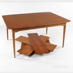 Teak Veneer Dining Table