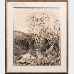 Walt Kuhn (American, 1877-1949)      Landscape en Grisaille.