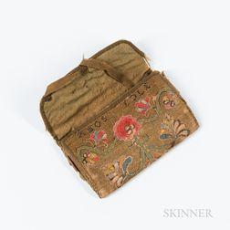 Floral-decorated Needlework Pocketbook