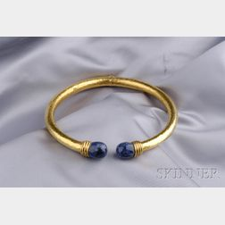 """22kt Gold and Sodalite """"Neolithic"""" Collar, Lalaounis"""