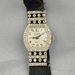 Art Deco Platinum and Diamond Wristwatch, Van Cleef & Arpels