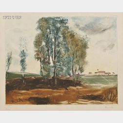 Jacques Villon (French, 1875-1963), After Maurice de Vlaminck (French, 1876-1958)      Le Village d'Herouville