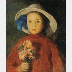 Charles Webster Hawthorne (American, 1872-1930)      Flower Girl