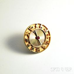 14kt Gold Spinning Arrow Zodiac Pin