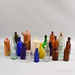 Twenty Glass and Pottery Bottles