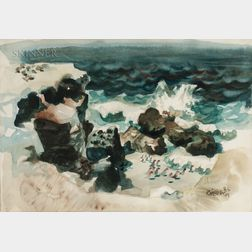 Dong Moy Chu Kingman (American, 1911-2000)      Cove, La Jolla