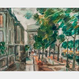 Richard L. Wright (American, 20th Century)      Avenue Hoche, Paris