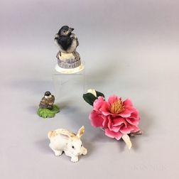 Four Boehm Porcelain Items
