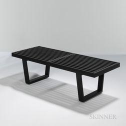 George Nelson (1908-1986) for Herman Miller Slat-top Bench