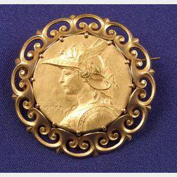 Art Nouveau 14kt Gold Brooch