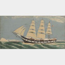 In the Manner of J.O.J. Frost (American, 1852-1928)    Portrait of the Whaling Ship  C.W. Morgan.