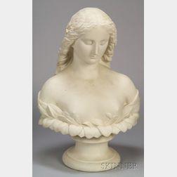 Large Copeland Parian Bust of Daphne