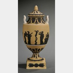 Wedgwood Yellow Jasper Dip Vase and Cover