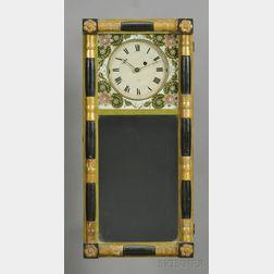 New Hampshire Mirror Clock Attributed to Samuel Abbott