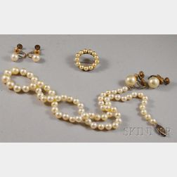 Small Group of Cultured and Faux Pearl Jewelry