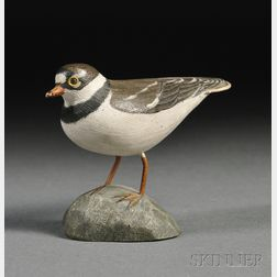Jess Blackstone Carved and Painted Miniature Semi-palmated Plover Figure