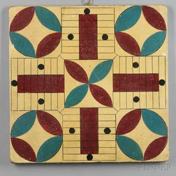 Polychrome Painted Double-sided Game Board