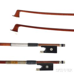 Two Nickel-mounted Violin Bows