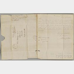 Gallatin, Albert (1761-1849) Six Signed Letters, 1808-1810.
