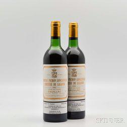Chateau Pichon Lalande 1982, 2 bottles