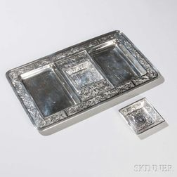 ART NOUVEAU WILLIAM KERR STERLING THISTLE /& FLORAL RING NUT OR OR SALT DISHES