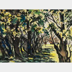 Dong Moy Chu Kingman (American, 1911-2000)      Summer Landscape