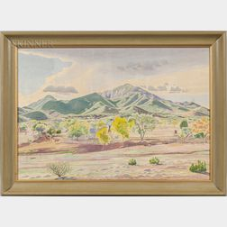 Sidney Redfield (American, 1901-1985)      Home at Arabella (New Mexico)