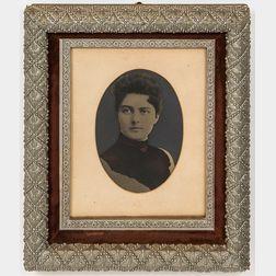 Framed Tinted Tintype of Mrs. Frances Cleveland