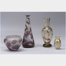 Galle and Loetz Miniature Glass Vases
