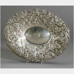Gorham Sterling Repousse Bread Tray